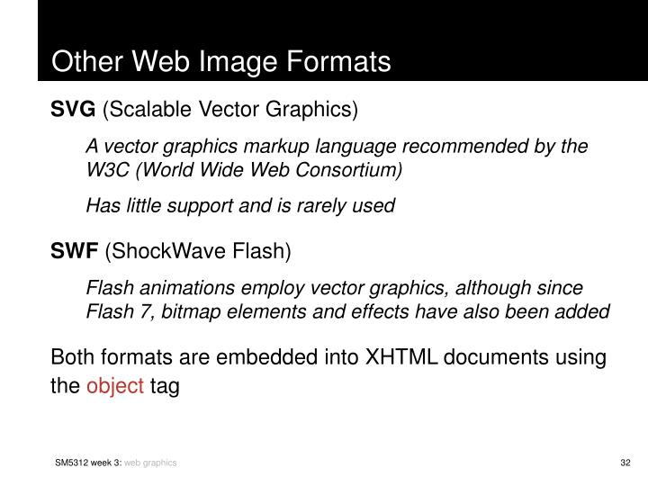Other Web Image Formats