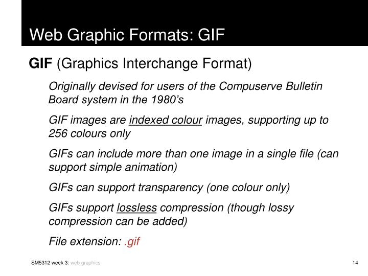 Web Graphic Formats: GIF