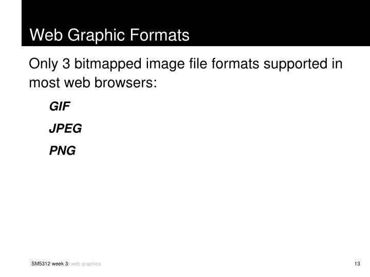 Web Graphic Formats
