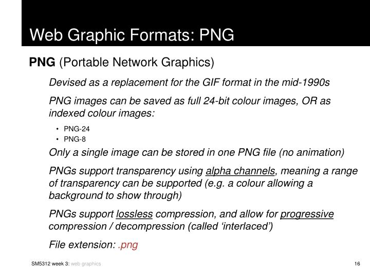 Web Graphic Formats: PNG