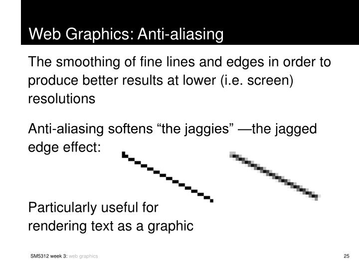 Web Graphics: Anti-aliasing