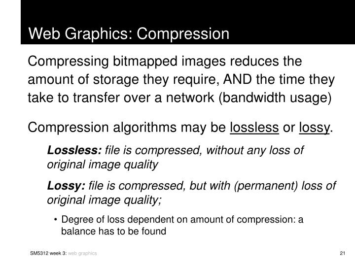 Web Graphics: Compression