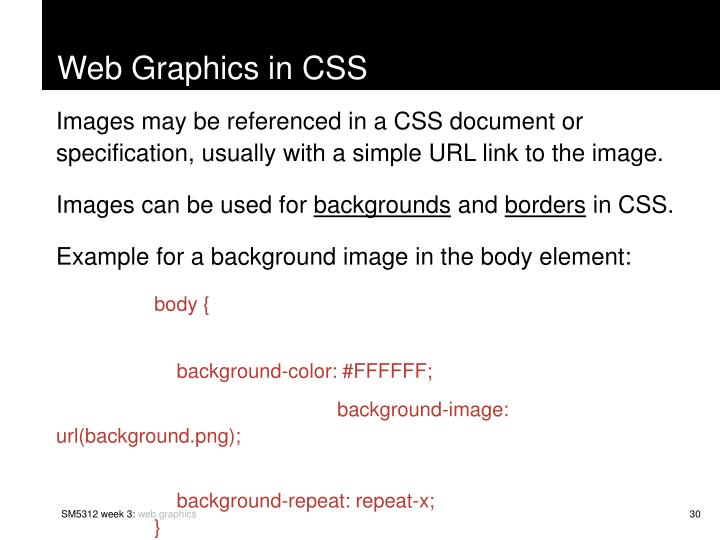 Web Graphics in CSS
