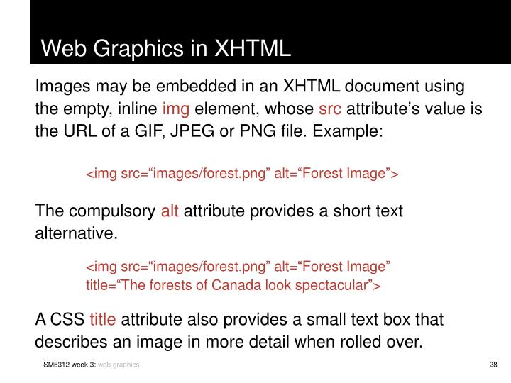 Web Graphics in XHTML