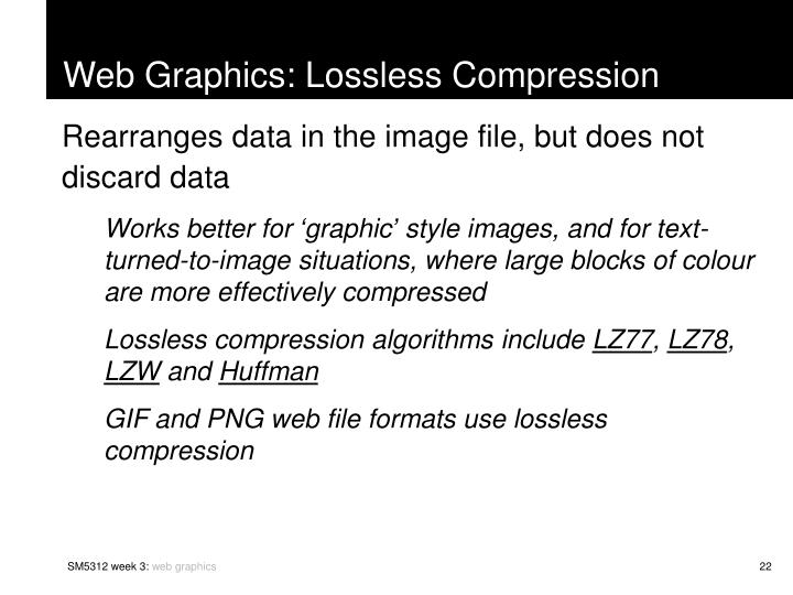 Web Graphics: Lossless Compression