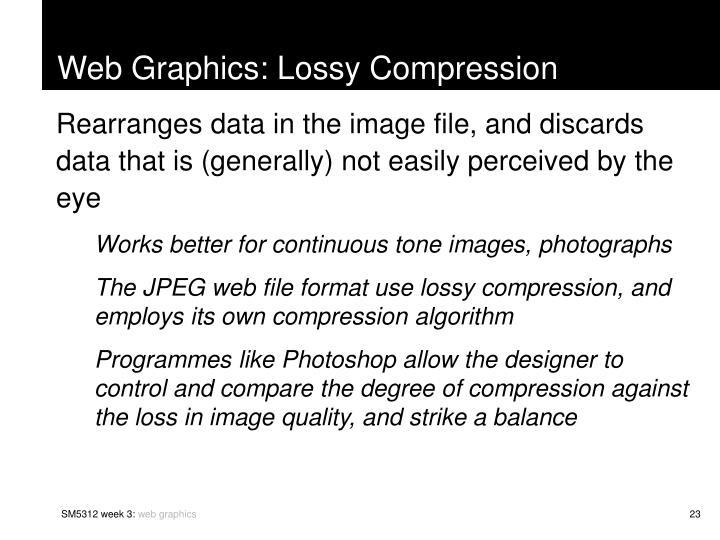 Web Graphics: Lossy Compression