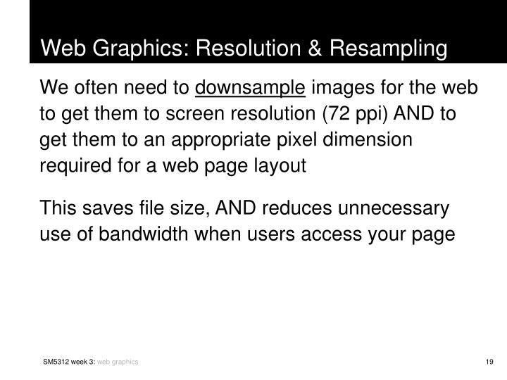 Web Graphics: Resolution & Resampling