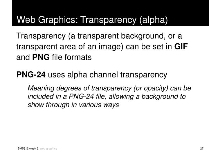 Web Graphics: Transparency (alpha)