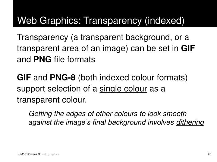 Web Graphics: Transparency (indexed)