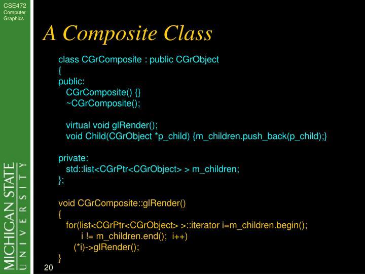 A Composite Class