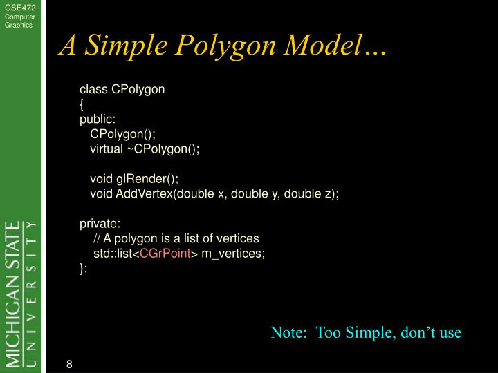 A Simple Polygon Model…
