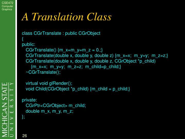 A Translation Class