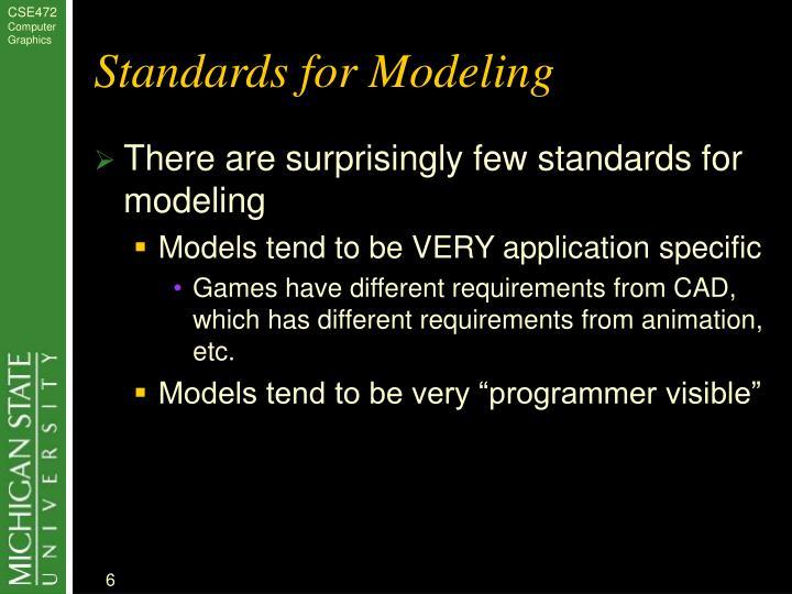 Standards for Modeling