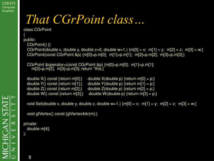 That CGrPoint class…