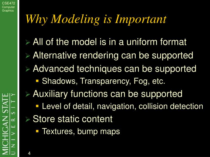 Why Modeling is Important
