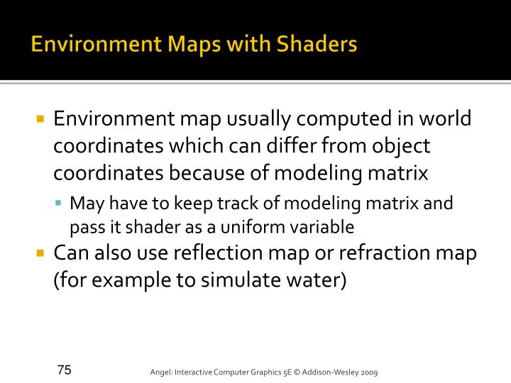 Environment Maps with Shaders