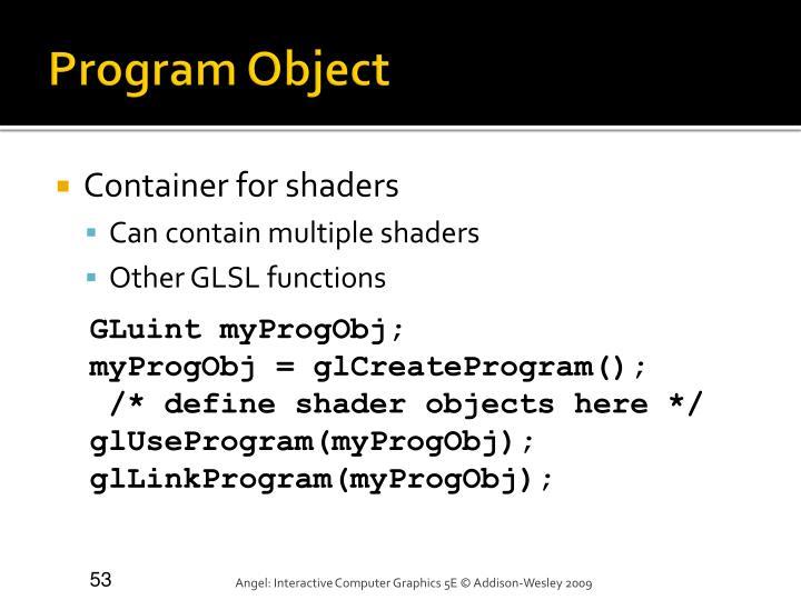 Program Object