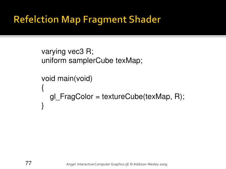 Refelction Map Fragment Shader