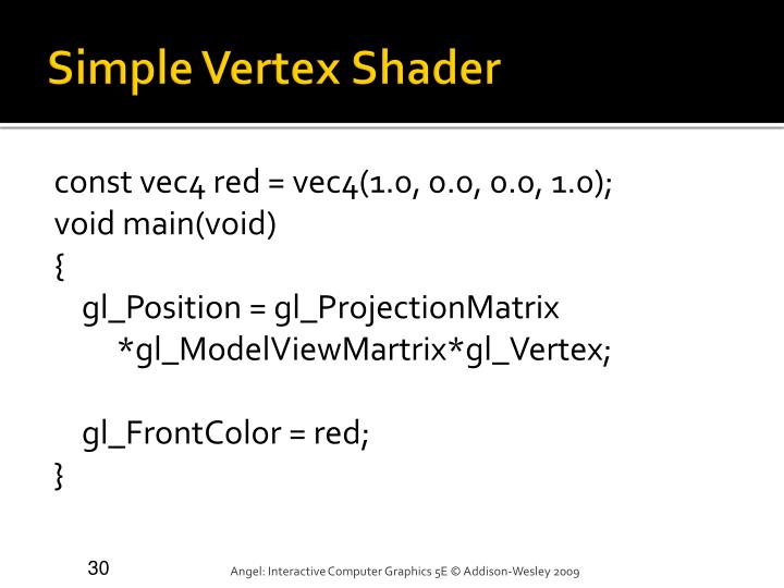 Simple Vertex Shader