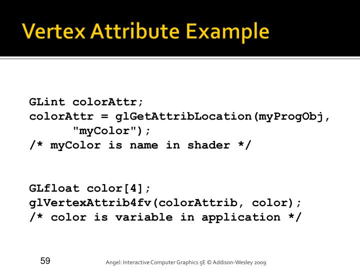Vertex Attribute Example