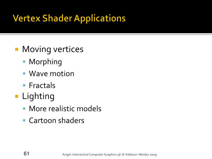 Vertex Shader Applications