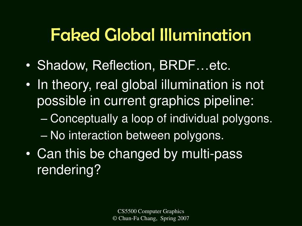 Faked Global Illumination