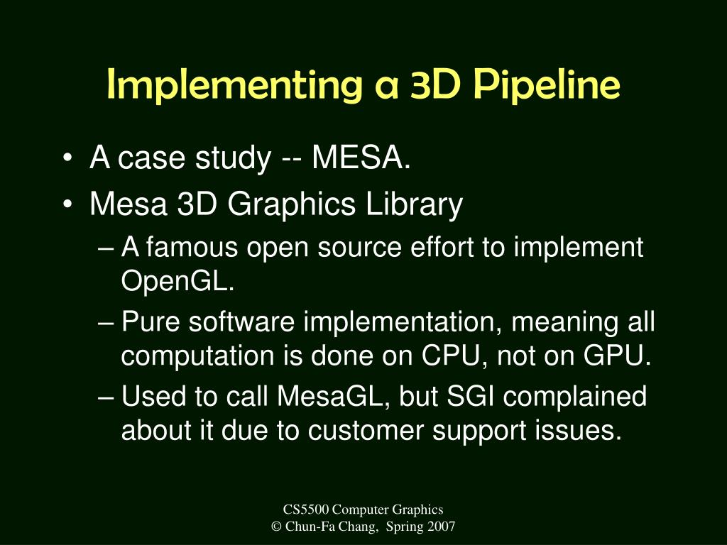 Implementing a 3D Pipeline