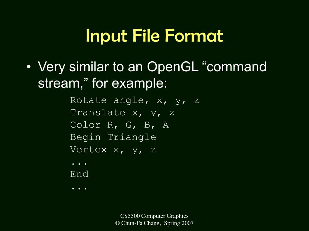 Input File Format