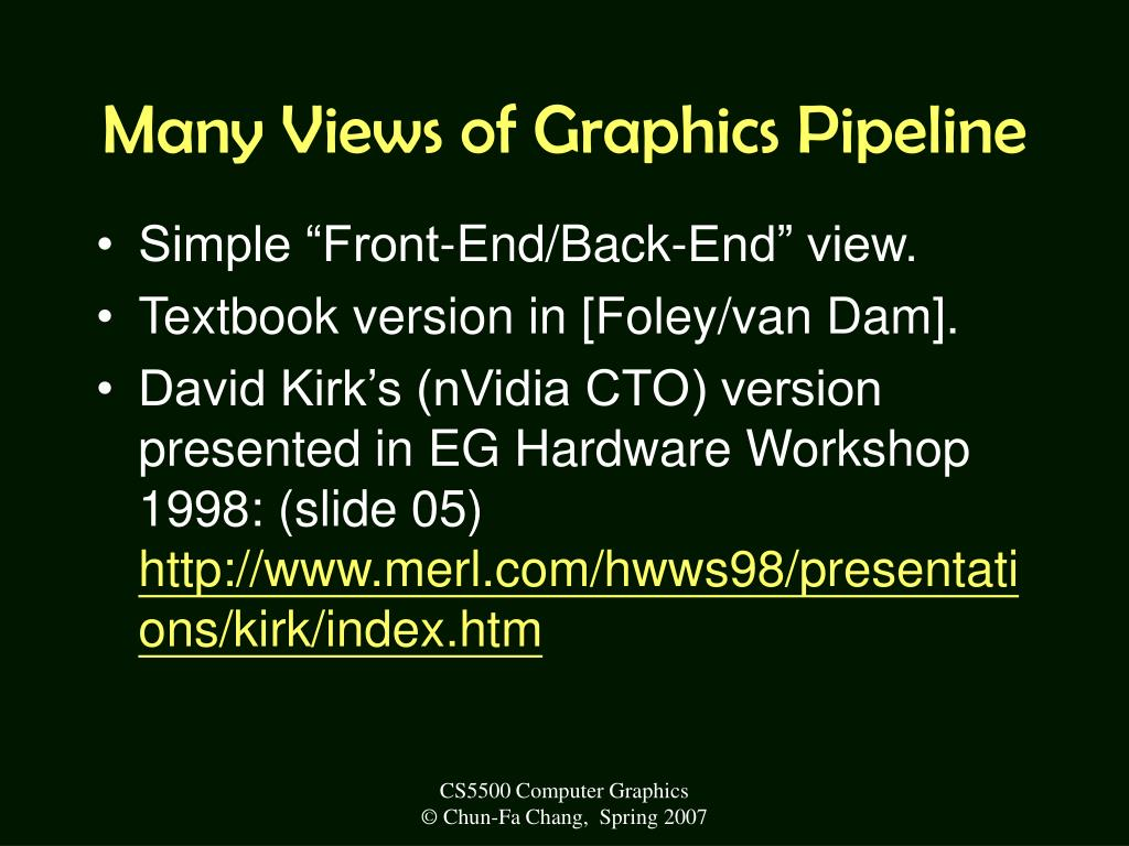 Many Views of Graphics Pipeline