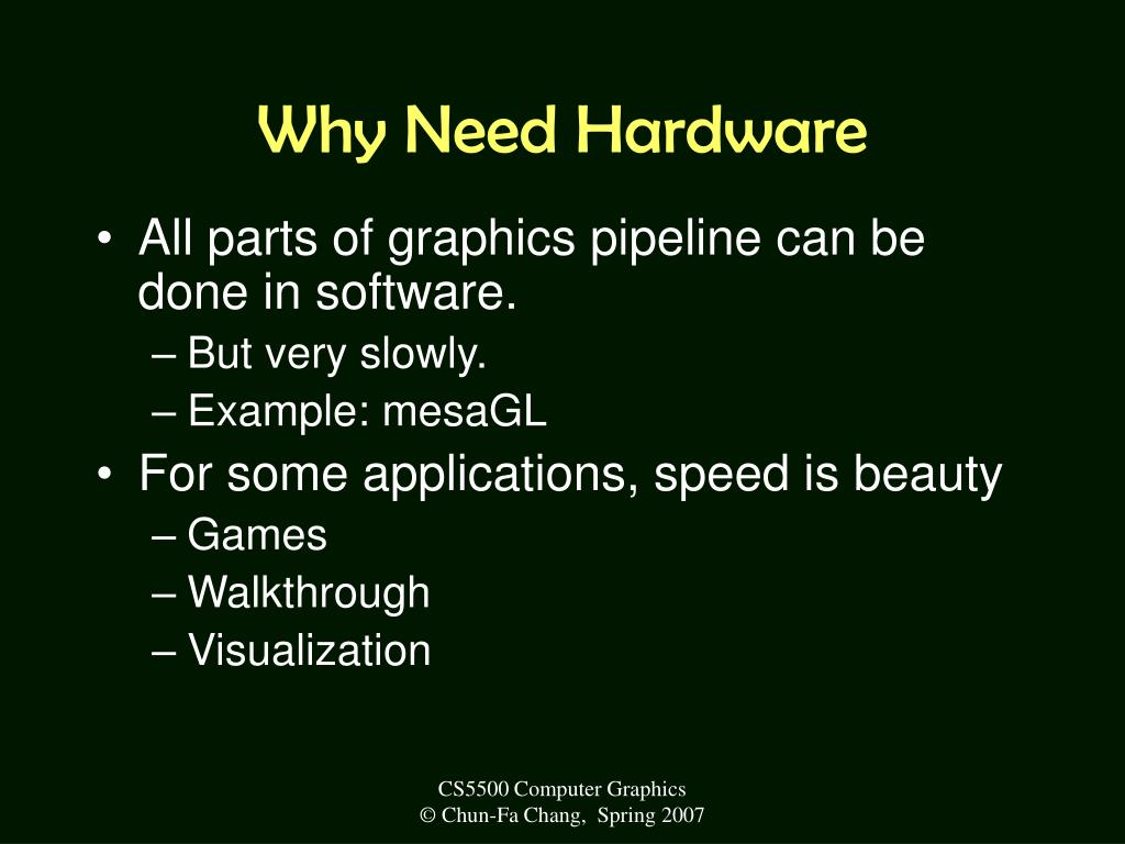 Why Need Hardware