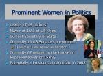 prominent women in politics