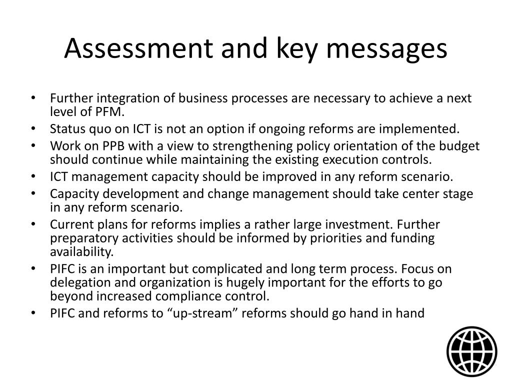 Assessment and key messages