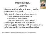 international lessons