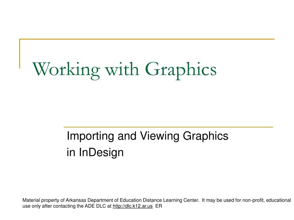 Working with Graphics