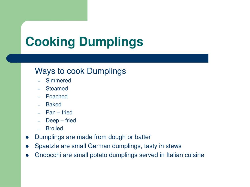 Cooking Dumplings