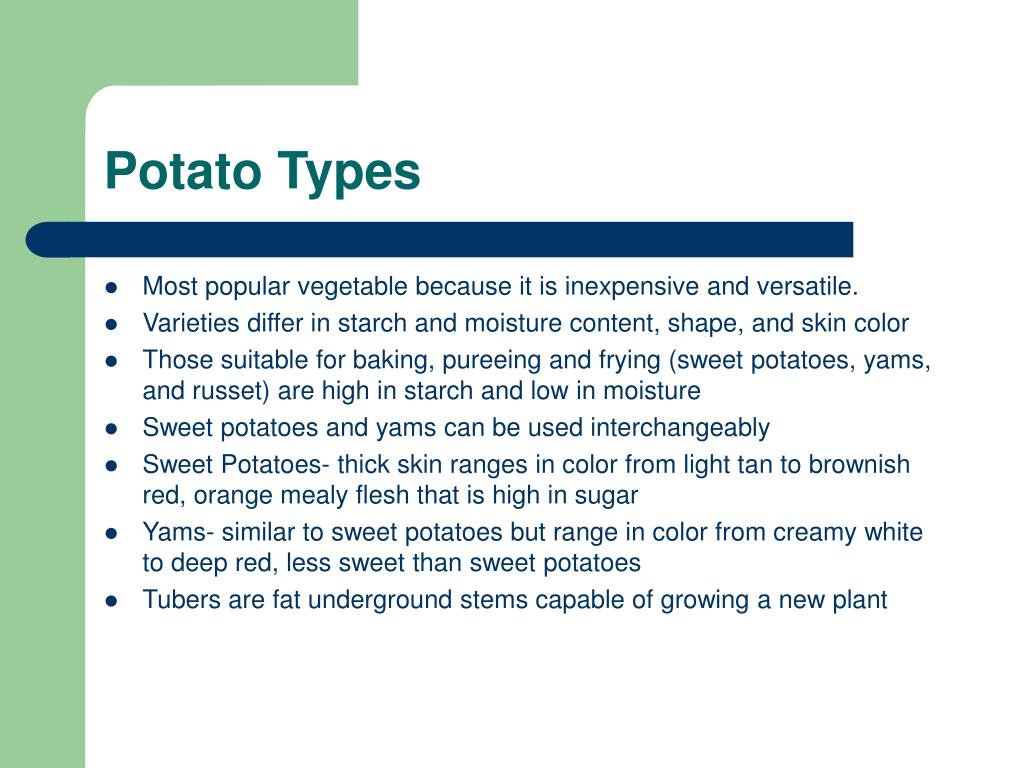Potato Types