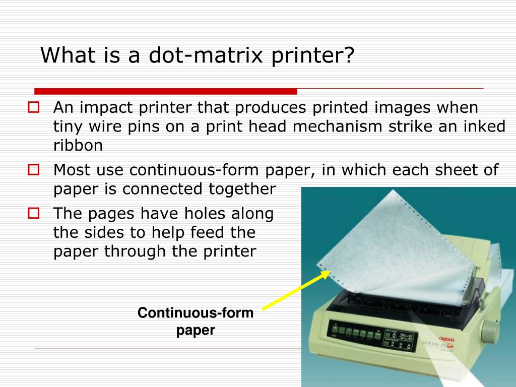 What is a dot-matrix printer?