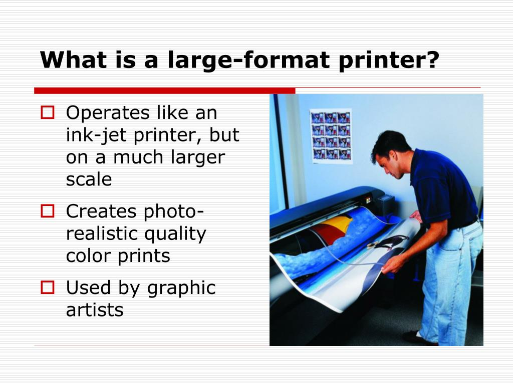 What is a large-format printer?