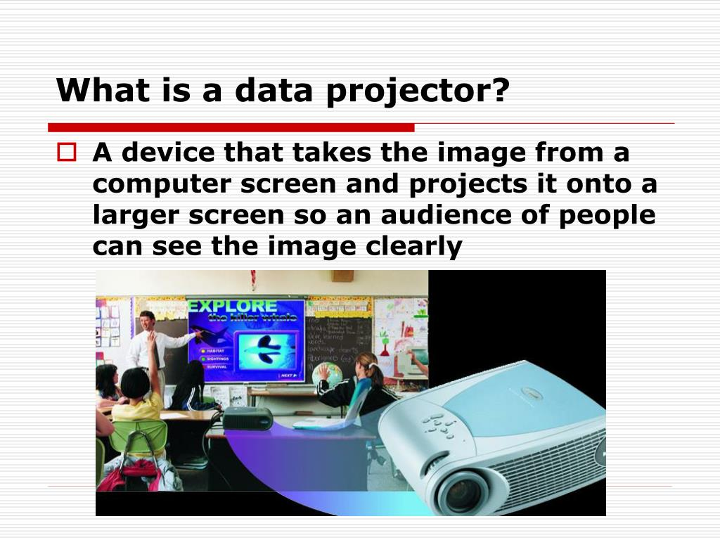 What is a data projector?
