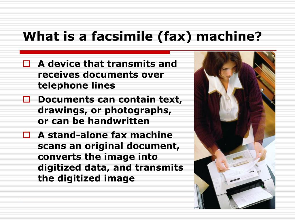 What is a facsimile (fax) machine?