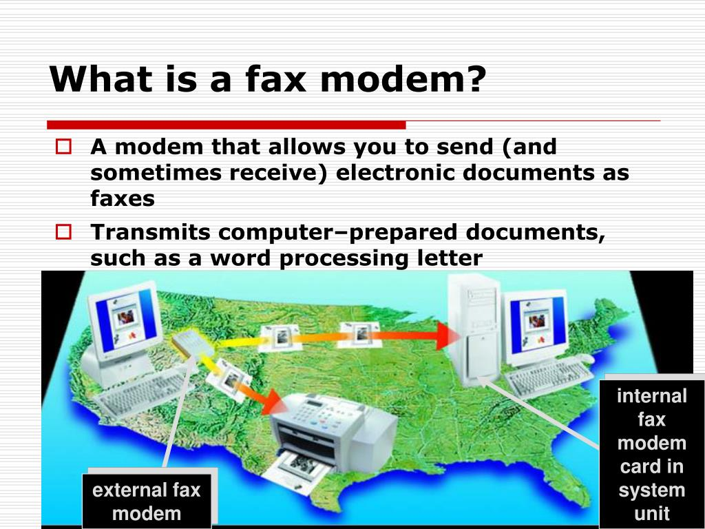What is a fax modem?