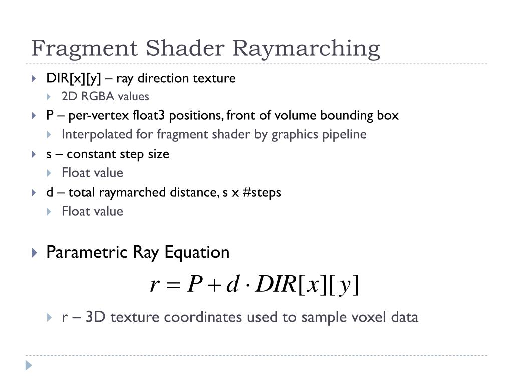 Fragment Shader Raymarching