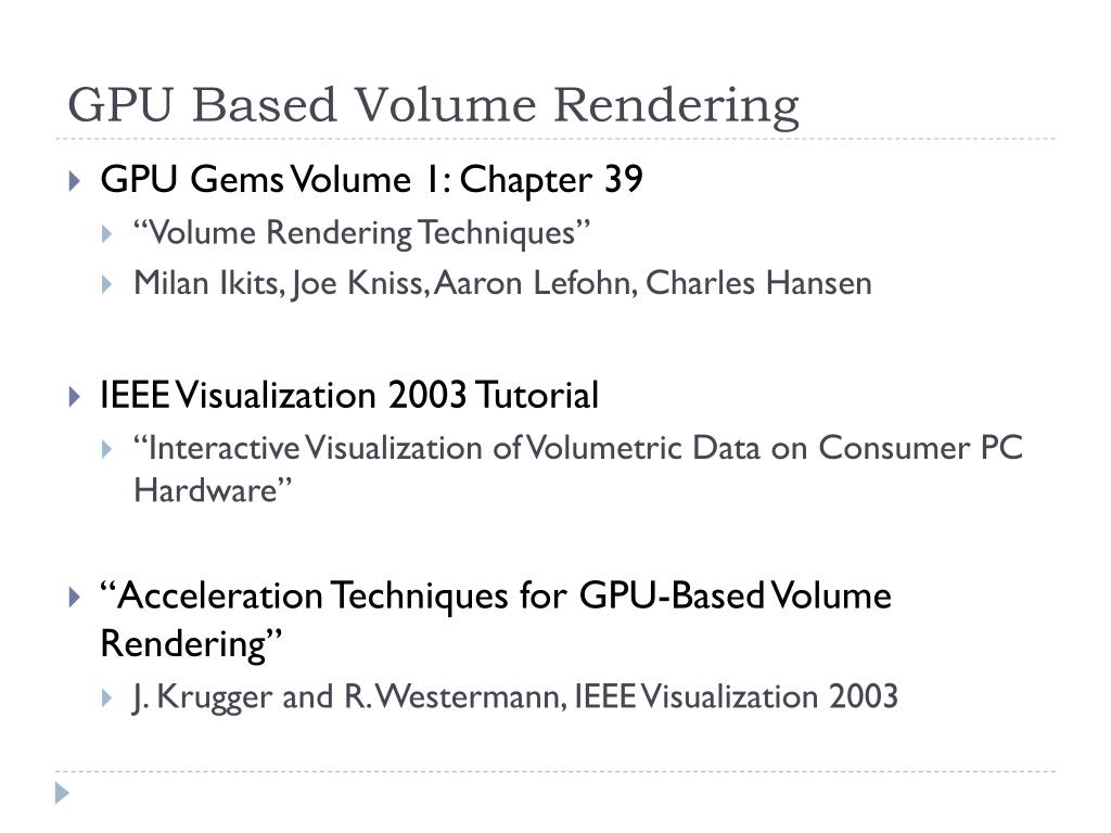 GPU Based Volume Rendering