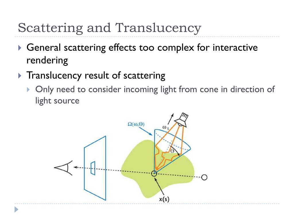 Scattering and Translucency