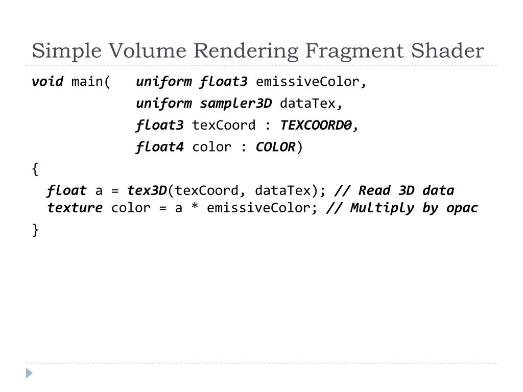 Simple Volume Rendering Fragment