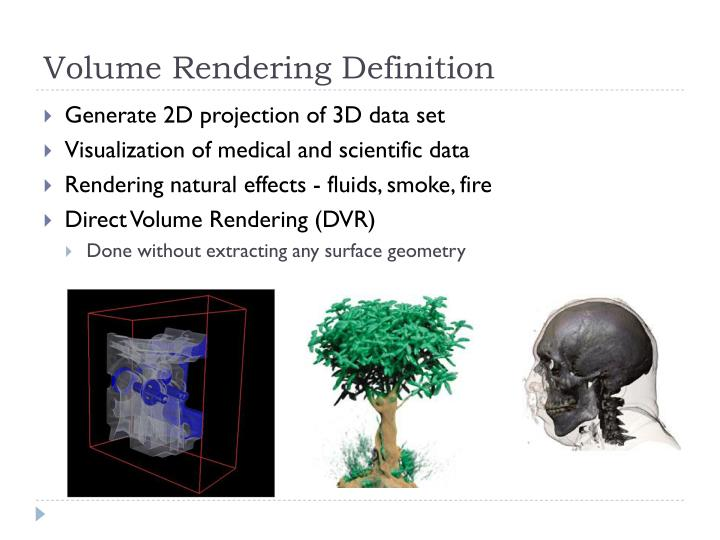 Volume rendering definition