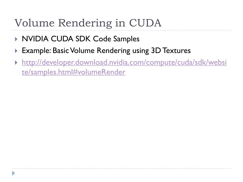 Volume Rendering in CUDA