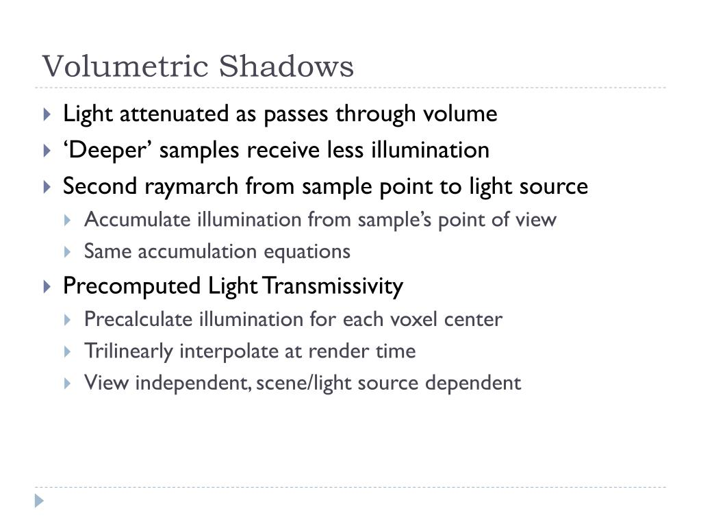 Volumetric Shadows