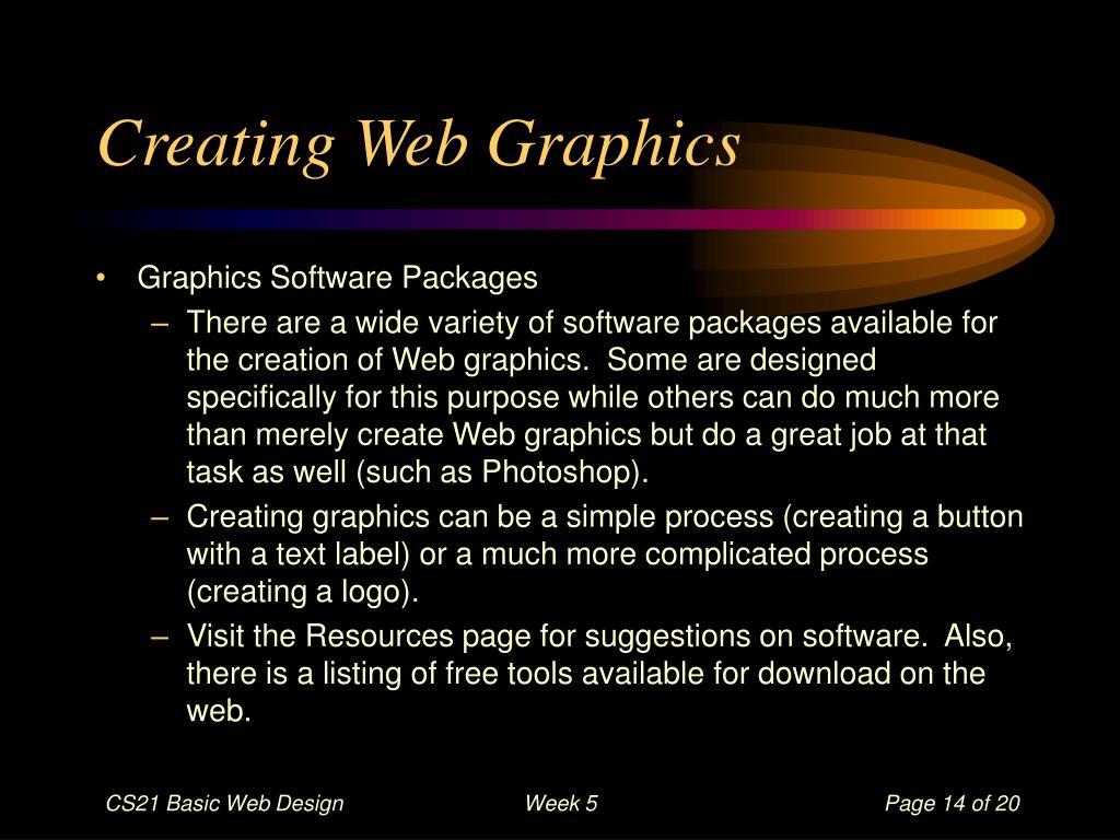 Creating Web Graphics