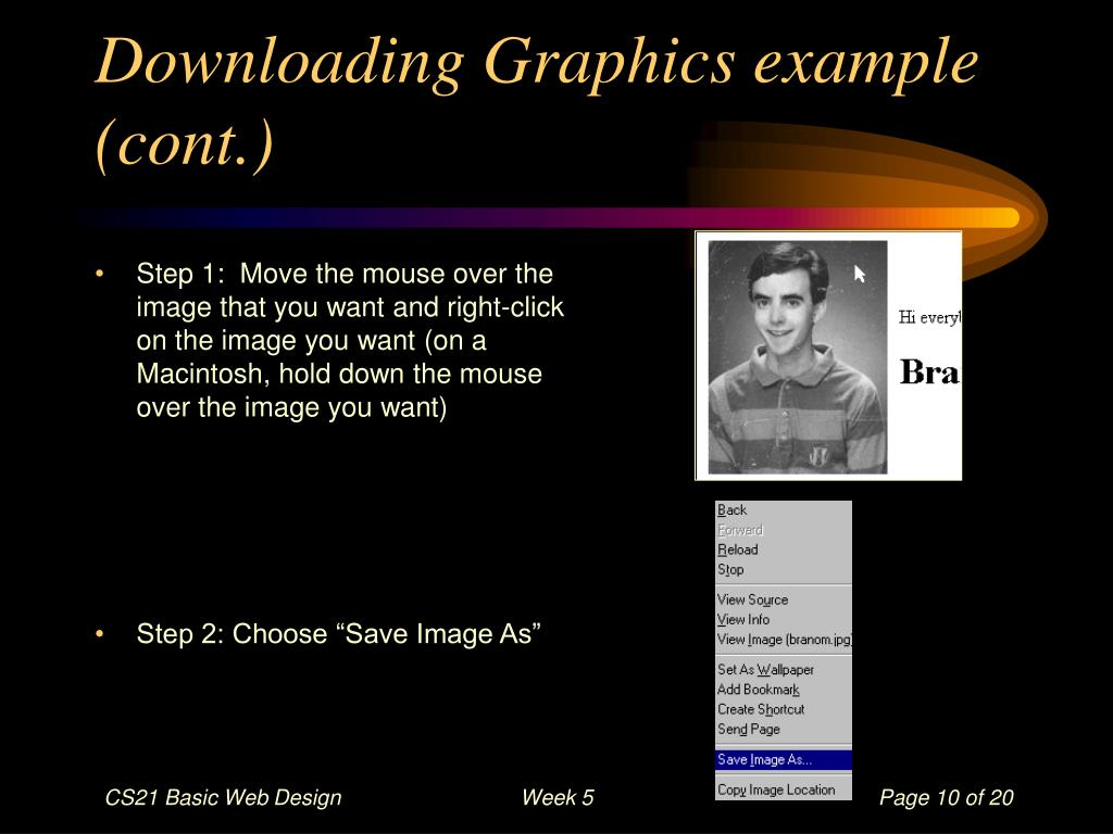 Downloading Graphics example (cont.)